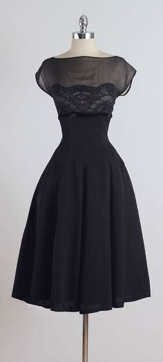 1950's Silk and Lace Dress