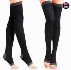 02efcea7d  3.69 - Women Compression Stockings Socks Slim Leg Varicose Veins  Circulation Black  ebay  Fashion