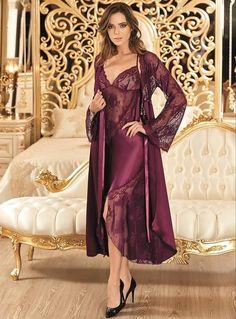 Nurteks 5114 Satin Nightgown Set will make you redefine comfort when you wear this cozy and stylish set. Pyjama Satin, Satin Nightie, Silk Chemise, Satin Sleepwear, Nightwear, Lingerie Fine, Satin Lingerie, Pretty Lingerie, Beautiful Lingerie