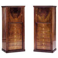 J. Hoffmann att. / J. Soulek / An Extraordinary Pair of Drawer Chests | From a unique collection of antique and modern commodes and chests of drawers at http://www.1stdibs.com/furniture/storage-case-pieces/commodes-chests-of-drawers/