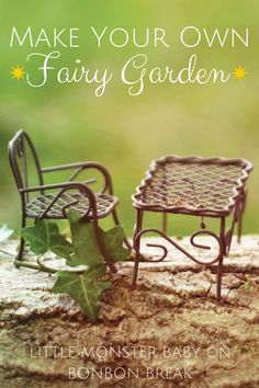Fairy Garden Furniture How To Make fairy garden bench - miniature rustic metal wire furniture