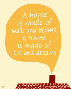 A home is made of love and dreams quote, living room art print ...