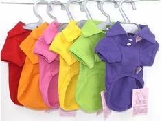 roupa camisa polo p/ cães - várias cores e tamanhos + brinde