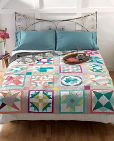 Meet the Vintage Revival Quilts: My Sampler Quilt--love the sashing with the small border first
