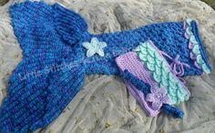 Mermaid Tail Skirt Ready to Ship by dbnicegirl on Etsy, $55.00