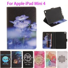 0f281e7fc Fashion High Quality PU Leather sFor iPad Mini 4 Case For Apple iPad Mini4  Smart Case Cover Painted With Stand Flip Shell Funda-in Tablets & e-Books  Case ...