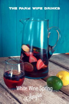Best. Damn. Sangria. This is a white wine sangria uses spring time fruits and a sparkling white wine.