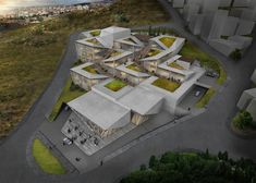 Competition Entry: Istanbul Gülsuyu Cemevi and Cultural Center,Aerial Rendered View. Image Courtesy of TAG