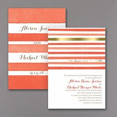 Sweet Stripes Wedding Invitation  |  40% OFF  |  http://mediaplus.carlsoncraft.com/Wedding/Wedding-Invitations/3254-TWS35268-Sweet-Stripes--Invitation.pro