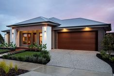 Weeks building group offering unique design and construction for Custom Home Builders Adelaide. Modern Small House Design, Modern Exterior House Designs, House Front Design, Dream House Exterior, Exterior House Colors, Front House Landscaping, Model House Plan, House Plans, Modern Bungalow House