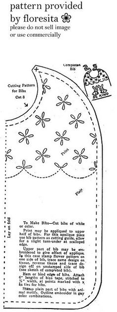 mailorder 2-920 bib pattern :: floresita's transfers via flickr