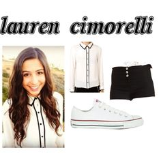"""Lauren Cimorelli"" by get-the-celebrity-look on Polyvore"