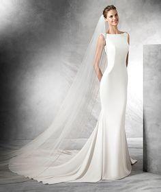 TATIANA - Mermaid wedding dress with a bateau neckline