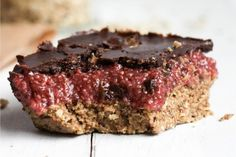 Almond Butter and Chia Jam Bars With Chocolate [Vegan] | One Green Planet