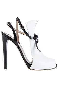 Emporio Armani Shoes Spring Summer 2012 Black & White Stiletto Sandal #Heels