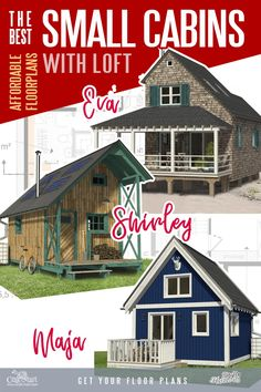 Take a look at these cute and affordable floorplans of tiny cabins with lofts! Clear step-by-step construction plans with detailed instructions are provided. Join thousands of people who are enjoying super low utility bills and no mortgage payments! Build your very own cabin with a loft now!