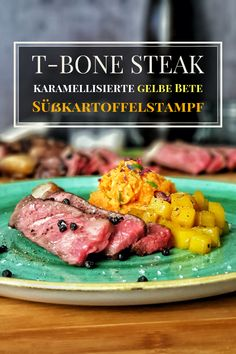 Here I have two delicious steak side dishes for you. Caramelized yellow beets and a simple sweet pot Steak Sides, Steak Side Dishes, T Bone Steak, Paul Cook, Beef Bones, Mashed Sweet Potatoes, Beef Recipes, Caramel, Kochen