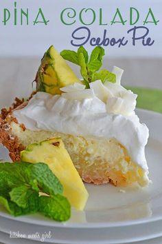 Pena colada icebox cake