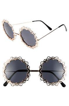 $22, Fantas Eyes Fe Ny Round Sunglasses Gold One Size