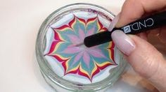 How To Produce Water Marbling Nail Art With Nail Polish (CND VINYLUX) https://www.youtube.com/watch?v=KCmQgAnAXTg