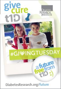 """Today is #GivingTuesday - Will you give A Future Free from T1D? Fer and Titi are just two of millions who feel that """"Everything would just be so much better without diabetes."""" Hear from these children and others about A Future Free From #T1D and how our scientists will get there at www.DiabetesResearch.org/Future. On this GivingTuesday, please give to a cure and to a Future Free from T1D. We are grateful for your generosity, and we hope you will share this with your friends!"""