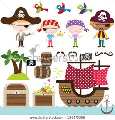 Pirate Elements - stock vector
