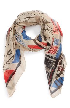 Perfect for keeping cozy while watchign the fireworks | Americana' Scarf