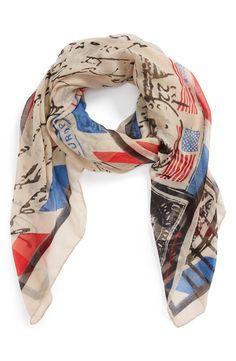 Patriotic scarf. -- very cute!