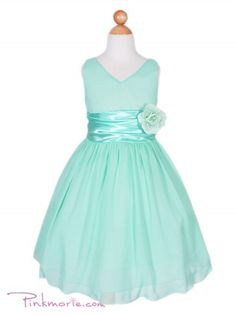 Seafoam/mint girls dress. Perfect for flower girl. Only 34.99 1-7 yrs