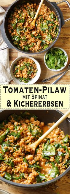 Grünkern Pilaw (auch Pilau oder Pilaf genannt) ist ein perfektes Vollkorngericht, das überhaupt nicht langweilig ist. Ein einfaches, gesundes Rezept für Grünkern Pilaw mit frischen Blattspinat und Rispentomaten – perfekt für Vegetarier oder Veganer. Perfekt als Beilage zu Fisch, Fleisch oder vegetarisches Gerichte. Einfache, Gesunde Rezepte - Elle Republic