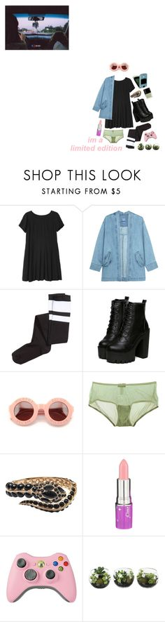 """{Come on Baby and Dance With Me}"" by banoffz ❤ liked on Polyvore featuring Monki, Steve J & Yoni P, H&M, Wildfox, Cosabella, Roberto Cavalli, Lime Crime and Butter London"