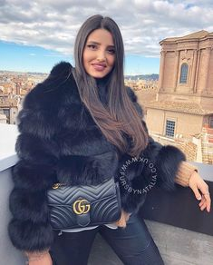 """Furs By Natalia Ltd on Instagram  """" ambrabny in our Mini Bubble Coat in  Black."""" b81092a1a"""