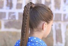 Cute Girl Hairstyles Easy Braids Teased - lace braided ponytail and updo Braided Hairstyles For Teens, Cute Hairstyles For School, Cute Little Girl Hairstyles, Cool Braid Hairstyles, Teen Hairstyles, Wedding Hairstyles, Beautiful Hairstyles, Athletic Hairstyles, Step Hairstyle