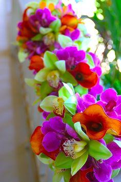 tropical flower bouquet wedding - Google Search