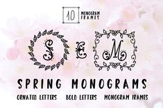 The Spring Monogram is an unique decorative font. It includes beautiful decorative letters and a clean hand-lettered display font with. Monogram Design, Monogram Fonts, Monogram Letters, Dingbat Fonts, Commercial Use Fonts, Otf Font, Character Map, 3d Texture, All Fonts
