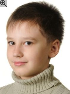 Very short and modern haircut for young boys. Velvety short hair that stands up all by ietself.