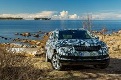 This is the new Skoda Karoq  As a true SKODA, the SKODA KAROQ offers exceptional space in the interior and boot, new driver-assistance systems, Full LED headlights and – for the first time in a SKODA – a digital instrument panel.