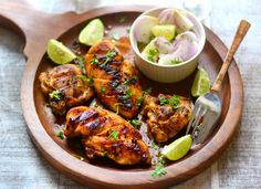 http://ift.tt/2gkxf0t  Mexican Lime Chicken is marinated Chicken breasts in lime juice lime zest coriander paprika and grilled either in oven or stove stop grill pan. Mexican Lime Chicken can be served as a starter or a side dish to lovely weekend meal and also a great option to serve in your brunch parties.  Mexican inspired recipe is simple yet very appetising. Lime juice and zest when teemed up with coriander and paprika gives an amazing aroma and flavour to the chicken keeping it juicy…