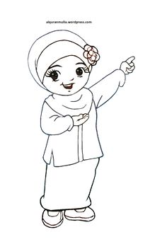 Gambar Kartun Muslimah Cantik Journal Di 2018 Anime Muslimah