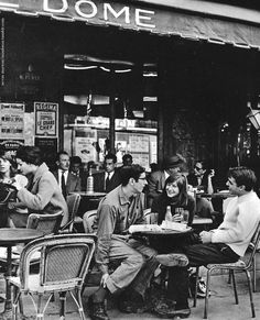 Chamade - Vintage French Photos - Ervin Marton - Montparnasse 1950s