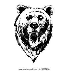 stock-vector-vector-illustration-marker-hand-drawn-forest-animals-bear-226330258.jpg (450×470)