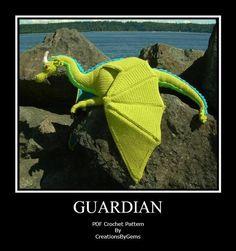 Guardian the Dragon PDF Crochet Pattern | Craftsy
