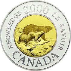 2 Dollar Gold/Silber Polarbären PP