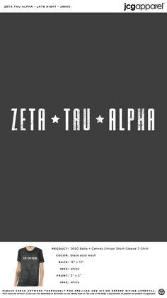 Zeta Tau Alpha Shirt | Sorority Shirt | Greek Shirt #zetataualpha #zeta #zta #star #classic #tee Alpha Shirt, Greek Shirts, Zeta Tau Alpha, Custom Design Shirts, Sorority Shirts, Stickers, Tees, Classic, Derby