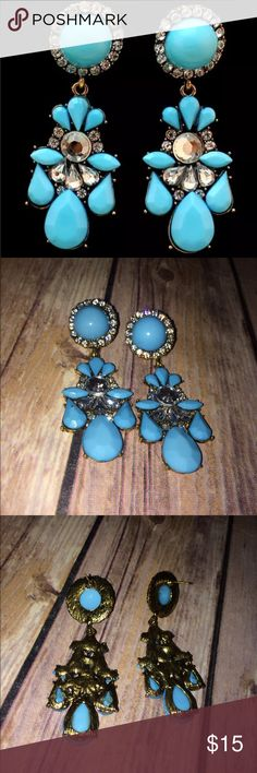 In the sky with diamonds Sky blue and pretty too! Whether for graduation or a night at the rodeo , these glam fashion earrings will bring all smiles to your ears! Jewelry Earrings