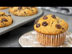 These healthy oats banana muffins are super moist, soft and fluffy. High in fibre and protein makes them fill you more than the typical muffins. Muffin Tin Recipes, Banana Bread Recipes, Cupcake Recipes, Healthy Banana Muffins, Healthy Cookies, No Bake Desserts, Delicious Desserts, Low Fat Cake, Breakfast Desayunos