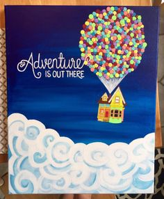 Adventure is Out There Pixar's Up Painting by DaisyDesign3 on Etsy