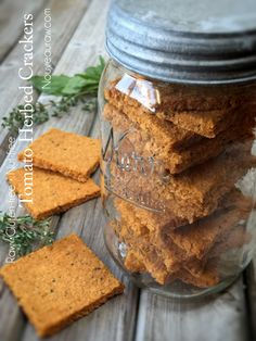 Making homemade crackers is one of the easiest things to throw together and then let the dehydrator do its magic. Raw Vegan Recipes, Vegan Foods, Vegan Snacks, Cooking Recipes, Homemade Crackers, Vegan Crackers, Dehydrator Recipes, Food Processor Recipes, Vegan Recipes