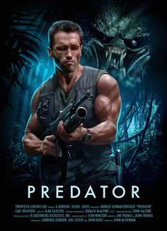 You can almost hear Arnold Schwarzenegger yelling 'Get to da choppa!' on this awesome Predator Poster. Fantasy Movies, Sci Fi Movies, Action Movies, Horror Movies, Action Film, Indie Movies, Comedy Movies, Arnold Schwarzenegger, Predator Art