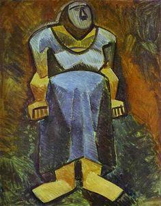 Pablo Picasso - La Fermiere (full-length), 1908